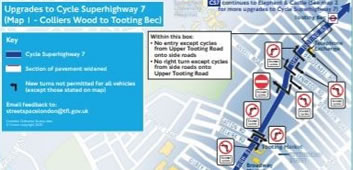 Major Upgrades For Colliers Wood Cycle Superhighway