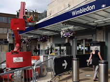 New Paint Job For Wimbledon Station